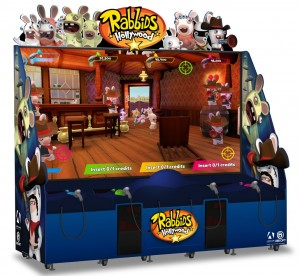 Rabbids Hollywood, a 120-inch screen shooting game, is new for 2018 from BNAE.