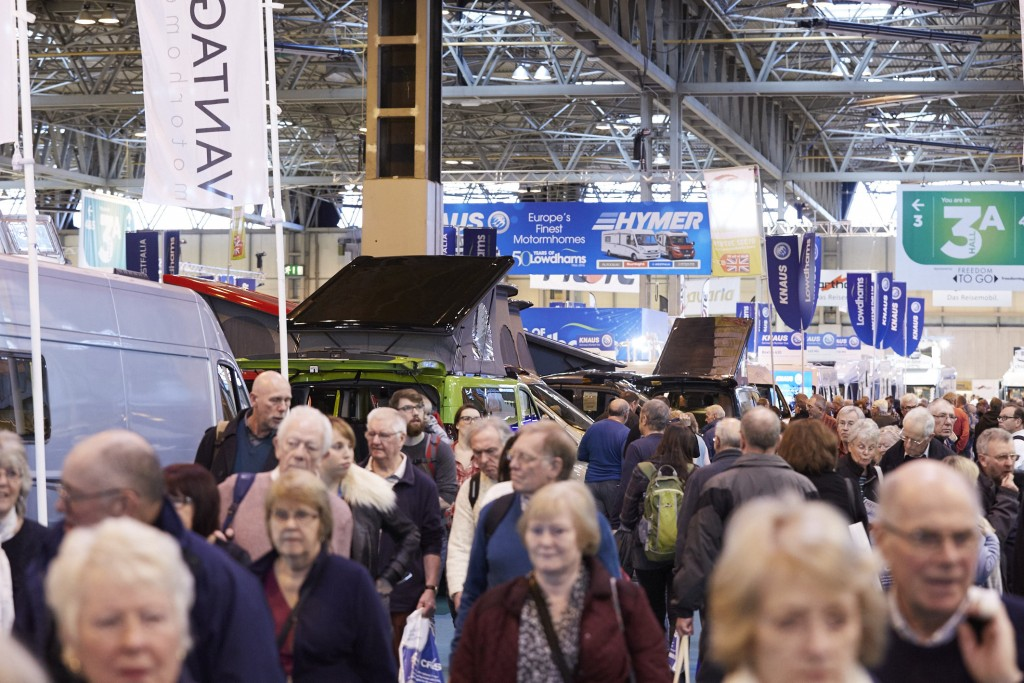 A whopping 87,589 visitors attended the Caravan, Camping & Motorhome Show at the NEC in Birmingham in February