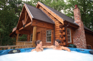 According to Hoseasons, a private hot tub is the number one searched for item on the website, accounting for more than 100,000 searches each month. Pic: Autograph Lodge Holidays.