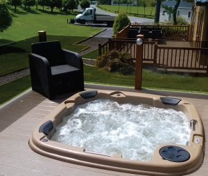 RotoSpa recommend that holiday hot tubs are changed every five years to keep them in tip-top condition.