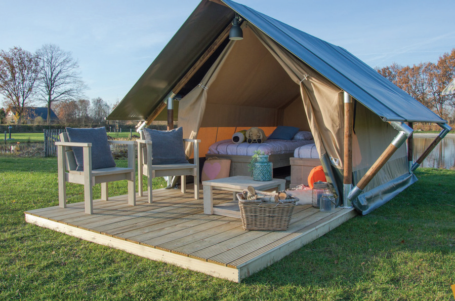 Outstanding Safari Tents' catalogue of tents ranges from 7.5m² to over 100m² and includes a substantial collection of luxury furniture.