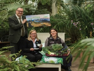 Celebrating Green Credentials (L-R) Kate Hughes, Horticultural Projects Officer at the Royal Botanic Gardens Edinburgh, Andrea Nicholas , Managing Director at Green Tourism, Jon Proctor, CEO at Green Tourism.