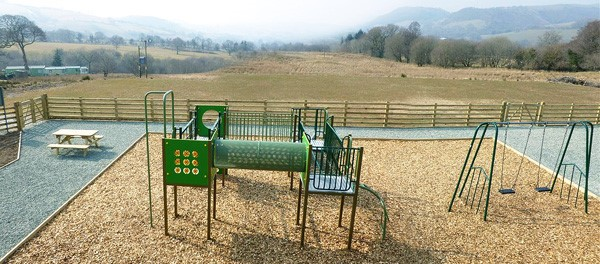 Play & Leisure provided the much needed play facilities for Bryn Uchel Caravan Park Powys, which include a bespoke four tower unit and swing