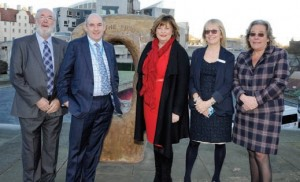 Pictured are chairman of BH&HPA (Scotland) Colin Fraser; national BH&HPA chairman Henry Wild; Scottish tourism minister Fiona Hyslop MSP; BH&HPA (Scotland) policy director Jeanette Wilson, and director general of BH&HPA Ros Pritchard.