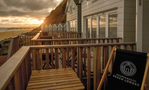 Above : Lodges on Bournemouth Beach are proving a five star attraction.