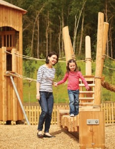 Creating an innovative play space that fires a child's imagination is part of a winning formula for holiday parks. Pic: Timberplay