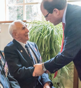 The Camping and Caravanning Club member Jim Pass, aged 98, was awarded a Chevalier Légion d'honneur.