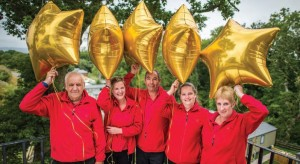 Teams from Ladram Bay Holiday Park and sister park Castle Brake celebrate their success
