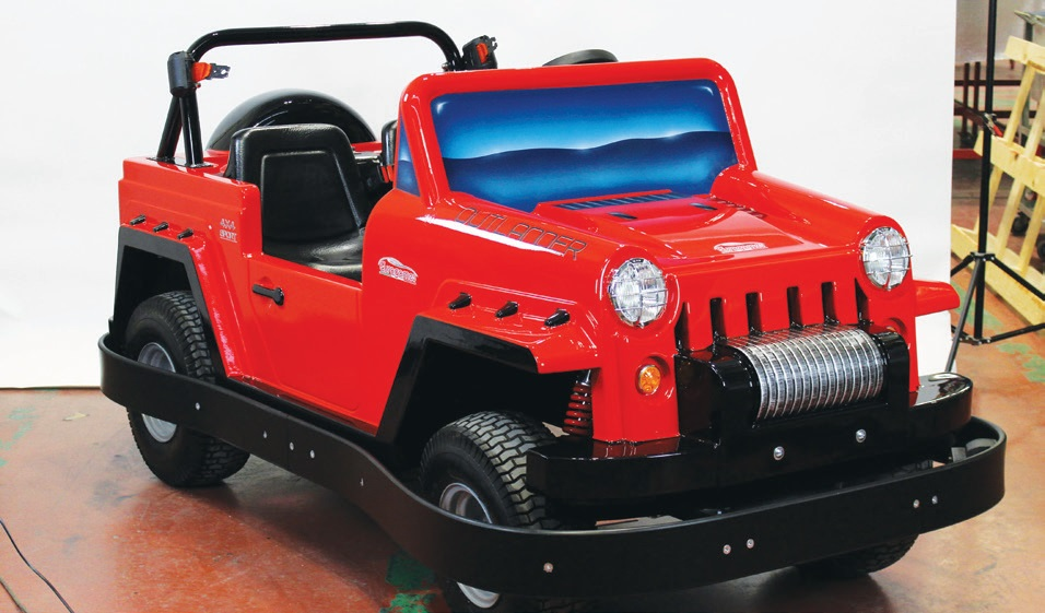"""World of Rides is launching its brand new batteryoperated off-road Outlander driving school cars for the 2018 season. According to the company, the cars will provide operators with safe, colourful, popular and very profi table new attraction for their venues – either indoors or outdoors – while also teaching children about road safety. The large twin-seat cars are fi tted with a working dashboard, ignition key and fully-operational seat belts, horn, head lights, direction indicators, accelerator and brake pedal with brake lights – and a reverse gear! """"Our main purpose is to 'edutain' children with learning through fun,"""" says Customer Support Manager Andrew Robinson. World Of Rides Tel. 0191 492 0999 www.worldofrides.com"""