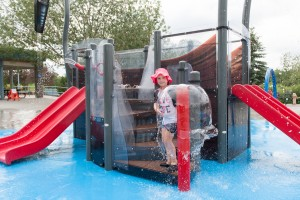 Water play is suitable and fun for all ages and all abilities, creates an ideal leisure space the whole family can enjoy together. Pic: WSL.