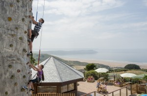 Woolacombe Bay climing wall and view (big)