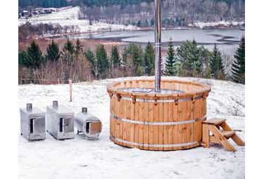 Eco Hot Tubs are made from only sustainable, high quality cedar, larch and spruce, triple treated with Danish oils to preserve and seal the wood.