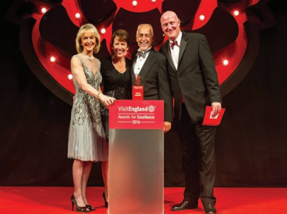 Woodovis Park owners John and Dorothey Lewis were delighted to take Gold in the Holiday Park of the Year category at the VisitEngland Awards of Excellence.