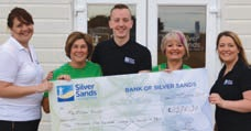 The team at Silver Sands Park reaped the rewards of their coffee and cake event in aid of Macmillan Cancer Support.