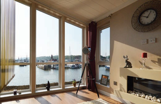 The Port Werburgh homes offer waterside living and stunning views. View from the Omar Ikon showhome.