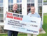 Paul Rodway was the lucky winner of Park Holidays UK's 2015 pitch fees prize draw.