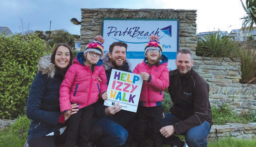 Porth Beach Holiday Park raised over £1,000 months to help fund six-year-old Izzy Pearce's operation