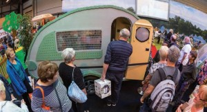 The LEGO caravan was the star attraction at the Motorhome & Caravan Show in October.
