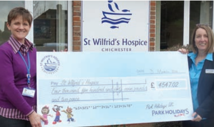 Chichester Lakeside Holiday Park raised over £4,500 for St Wilfrid's Hospice