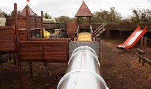 RSS Playground Inspection and Maintenance recently completed a substantial refurbishment of a 7-tower HAGS SMP play unit at Sundown Adventureland.