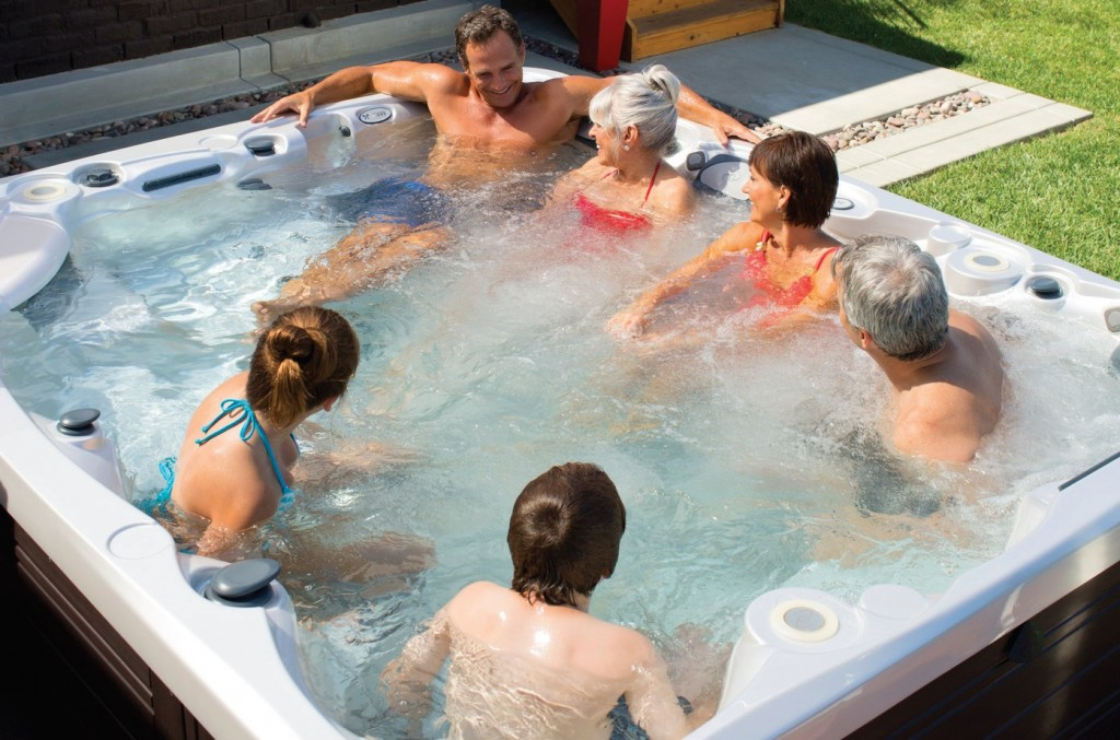 Commercial spas offer bigger and better filtration and sanitation systems along with other features that suit much heavier bather use. Pic: Caldera Spas.