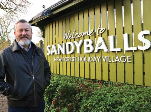 Sandy Balls Holiday Village has been acquired by Away Resorts. Pictured is Carl Castledine, Chief Executive Officer at Away Resorts