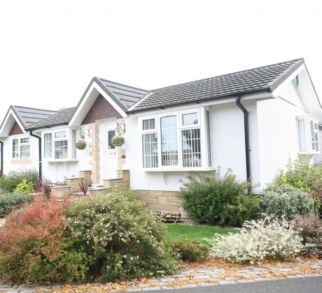 A number of park homes at Wyldecrest's Orchard Park, similar to those pictured, have undergone insulation improvements