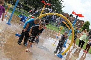 While major swimming pool investment can sometimes be ruled out on the basis of budget, splash pads offer an attractive alternative. Pic: Ustigate Waterplay