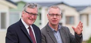 Scotland's tourism minister Fergus Ewing (left) is pictured with David Key, Parkdean Holidays' regional director for Scotland.