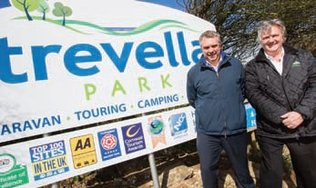 St Austell and Newquay MP Steve Double praised Trevella Park for its continued growth.